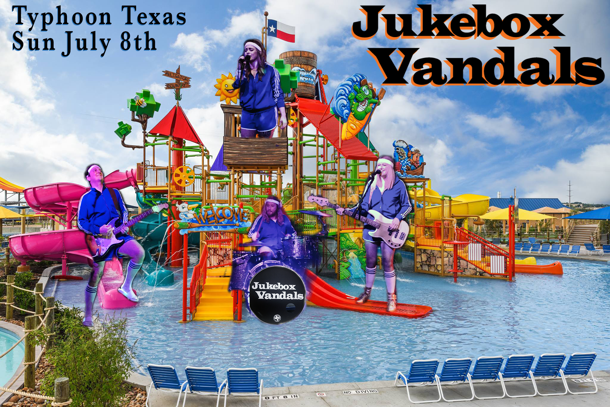 Jukebox Vandals play Typhoon Texas in Austin on July 8, 2018